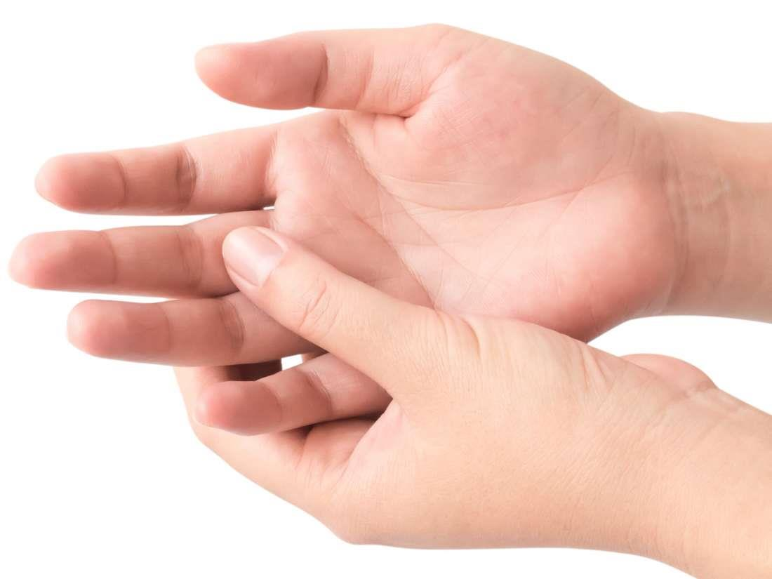Hands with finger sprain