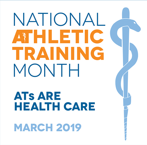 National Athletic Training Month Logo